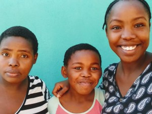 Mblalenhle Mkhize (far right) and family